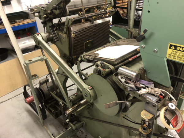 """AU180401 - Used Kluge 10x15"""" Foil Stamping, Embossing and Die Cutting Platen Press"""